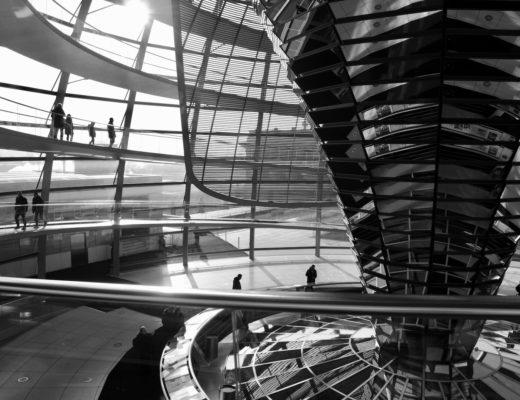 Kopuła Reichstagu od wewnątrz