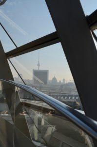 widok z kopuły Reichstagu