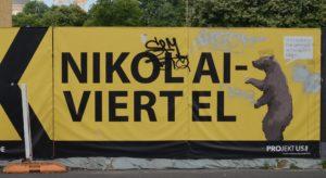 Billboard z reklamą Nikolaiviertel